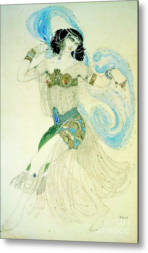 People Metal Print featuring the drawing Dance Of The Seven Veils, 1908. Artist by Heritage Images