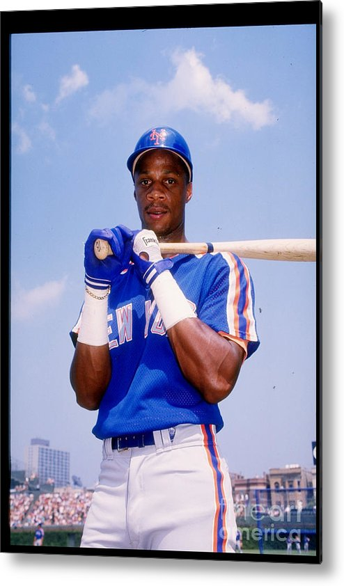 1980-1989 Metal Print featuring the photograph Darryl Strawberry by Tony Inzerillo