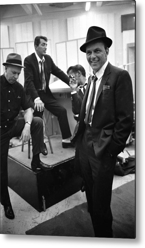 Event Metal Print featuring the photograph Dean Martinsammy Jr. Davisfrank Sinatra by Gjon Mili