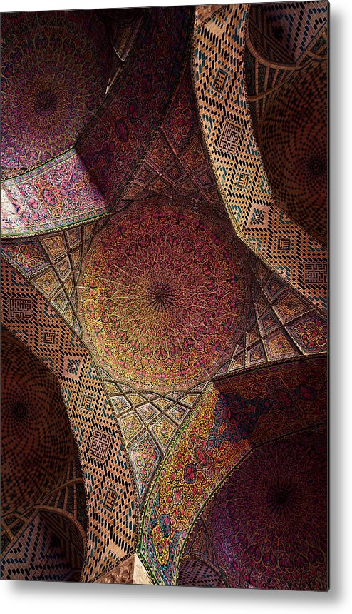 East Metal Print featuring the photograph Detail Of The Ceiling Tilework by Len4foto