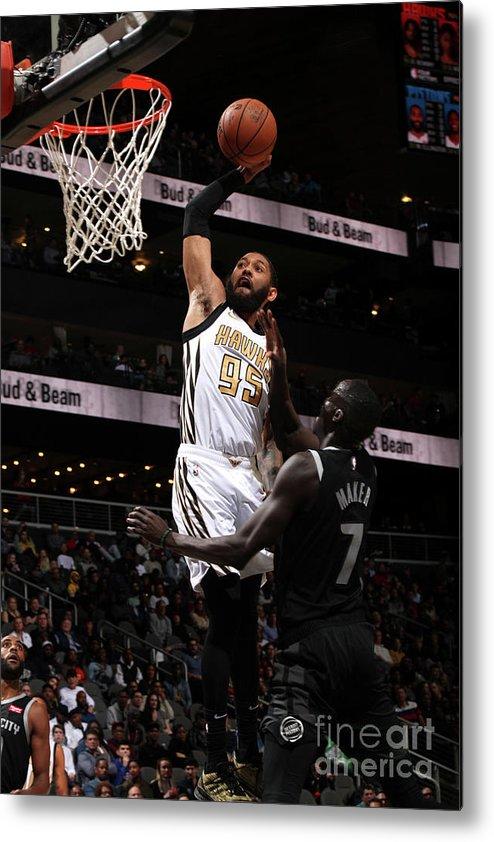 Atlanta Metal Print featuring the photograph Detroit Pistons V Atlanta Hawks by Jasear Thompson