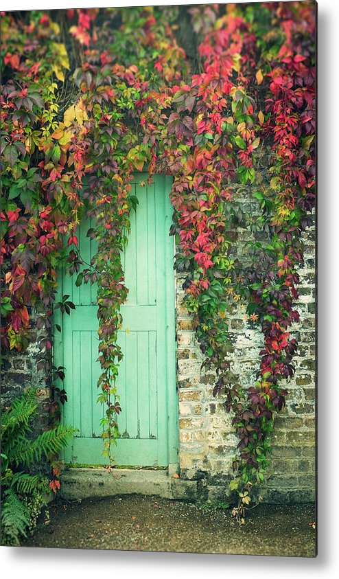 Tranquility Metal Print featuring the photograph Door To The Secret Garden by Image By Catherine Macbride