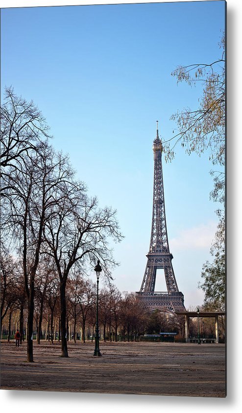 Built Structure Metal Print featuring the photograph Eiffel Tower In Paris by Tuan Tran