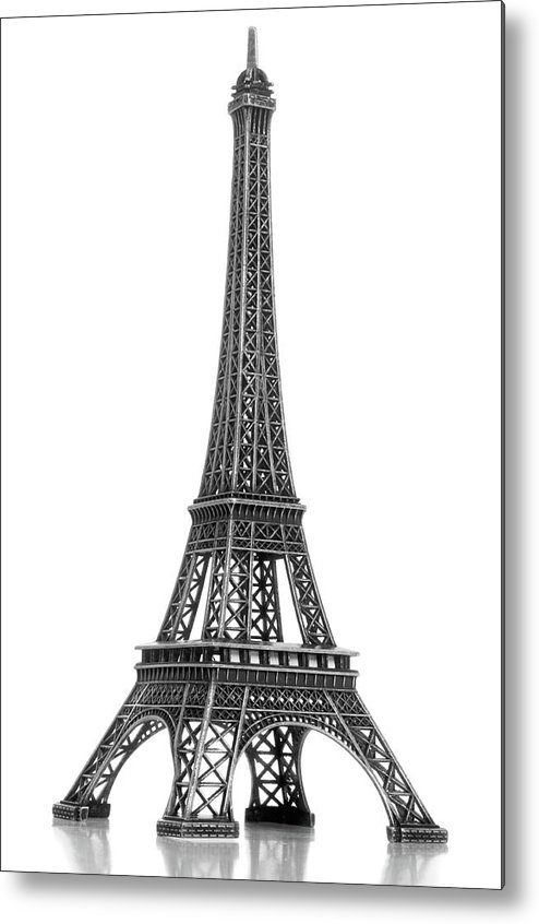 Architectural Model Metal Print featuring the photograph Eiffel Tower by Jamesmcq24
