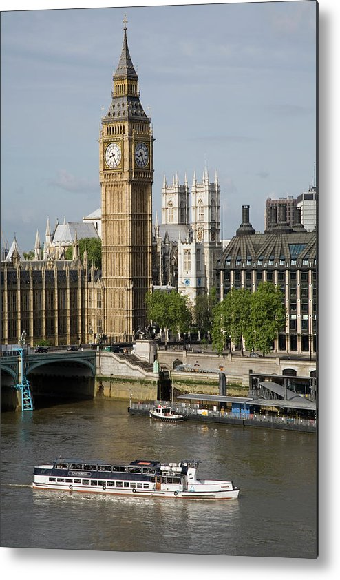 England Metal Print featuring the photograph England, London, Big Ben And Thames by Jerry Driendl