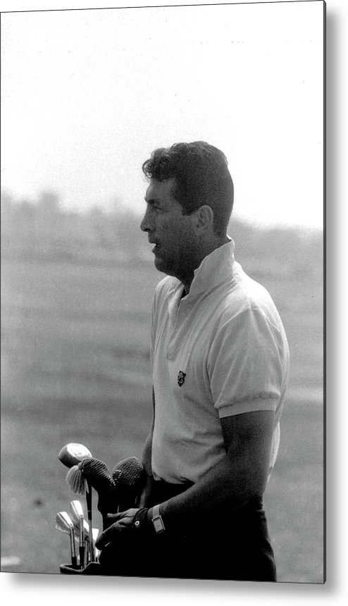 Timeincown Metal Print featuring the photograph Entertainer Dean Martin Playing Golf by Allan Grant