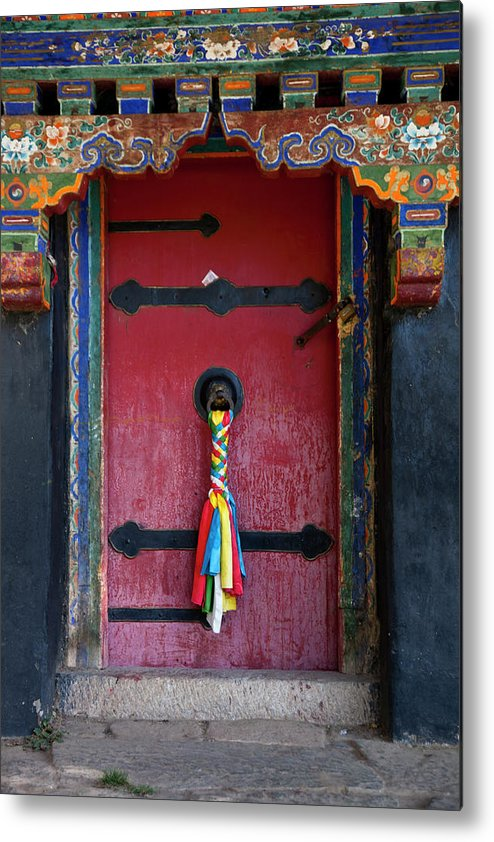 Chinese Culture Metal Print featuring the photograph Entrance To The Tibetan Monastery by Hanhanpeggy