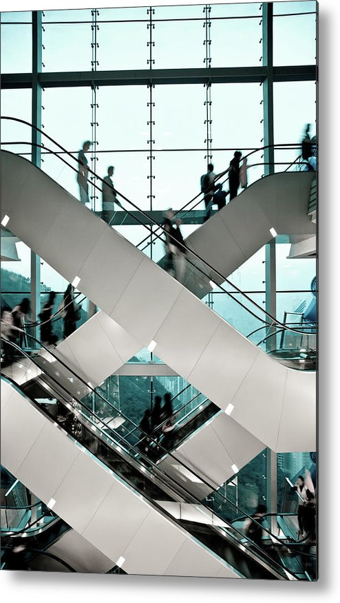 People Metal Print featuring the photograph Escalator by Ymgerman