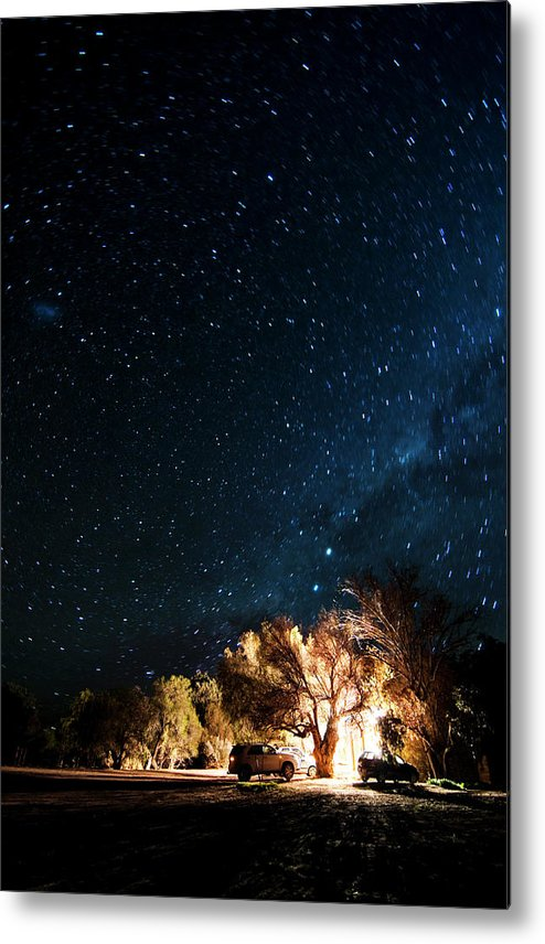 Northern Cape Province Metal Print featuring the photograph Farm House And Milky Way by Subman