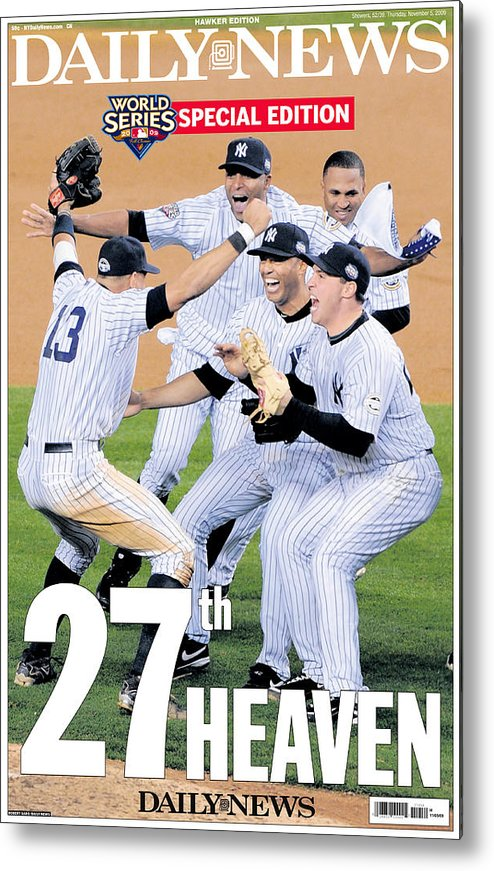 Celebration Metal Print featuring the photograph Front Page Wrap Of The Daily News by New York Daily News Archive