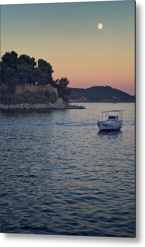 Tranquility Metal Print featuring the photograph Full Moon Rising by Dreaming For A Living