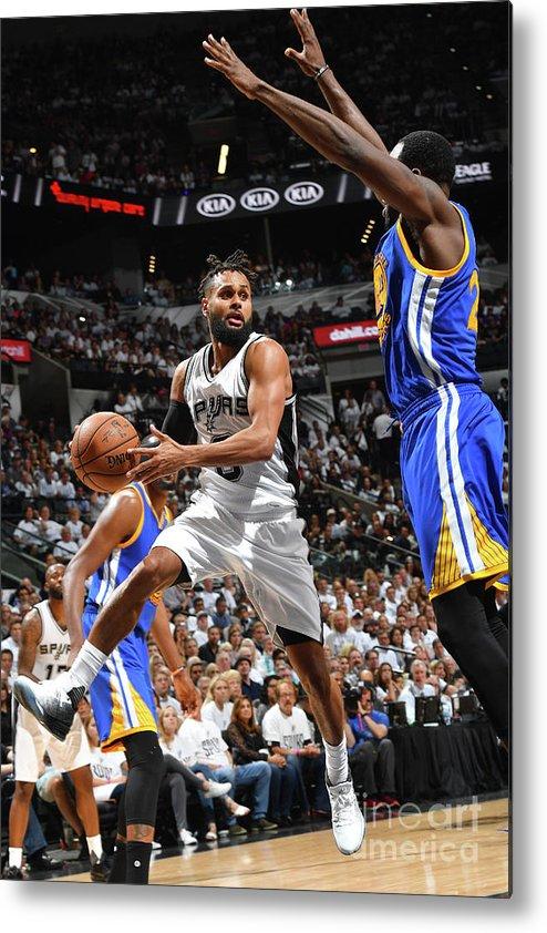 Playoffs Metal Print featuring the photograph Golden State Warriors V San Antonio by Jesse D. Garrabrant