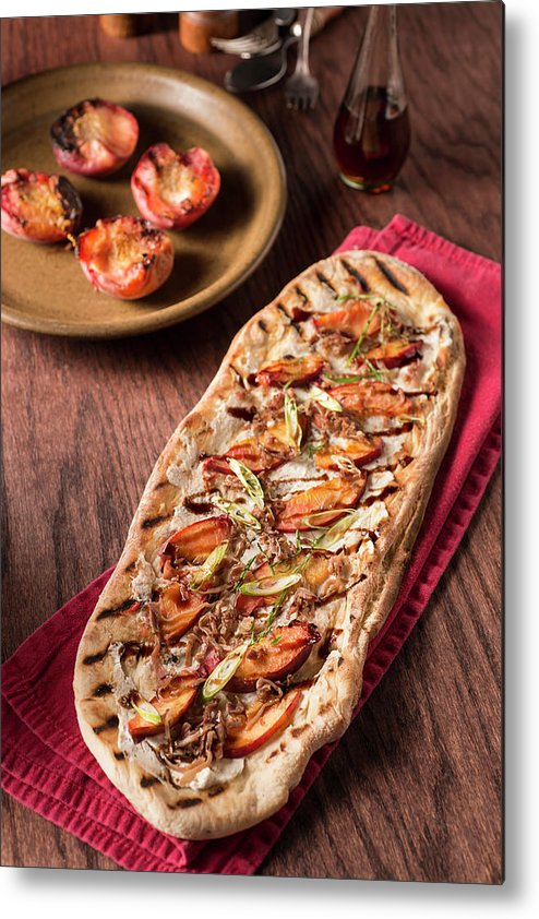 Cheese Metal Print featuring the photograph Gourmet Pizza by Rudisill