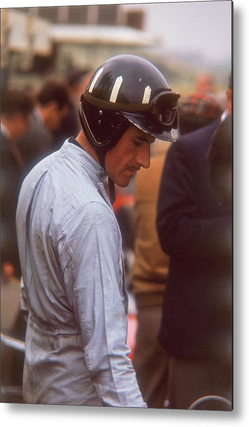 Crash Helmet Metal Print featuring the photograph Graham Hill, Dutch Grand Prix by Heritage Images