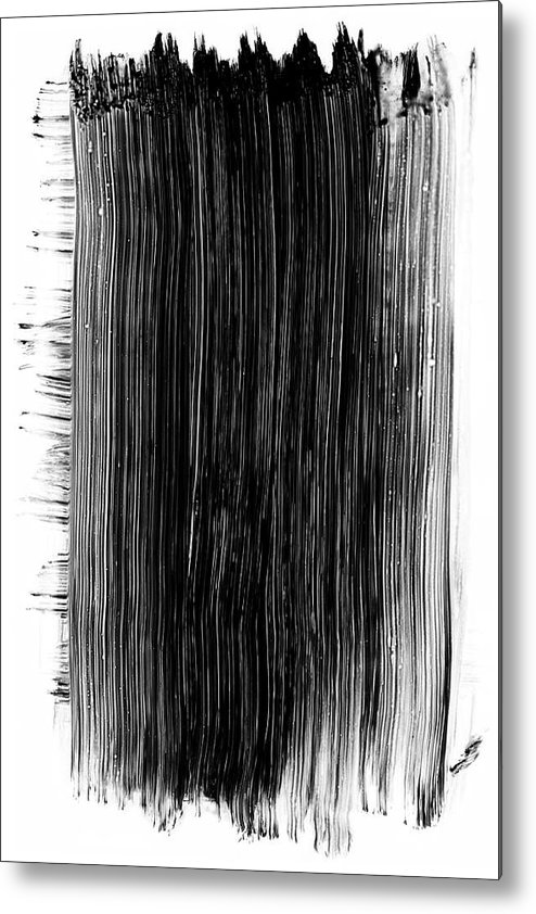 Art Metal Print featuring the photograph Grunge Black Paint Brush Stroke by 77studio