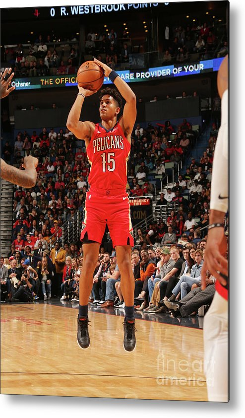 Smoothie King Center Metal Print featuring the photograph Houston Rockets V New Orleans Pelicans by Layne Murdoch Jr.