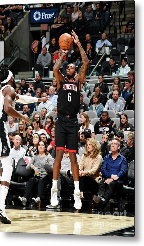 Nba Pro Basketball Metal Print featuring the photograph Houston Rockets V San Antonio Spurs by Logan Riely