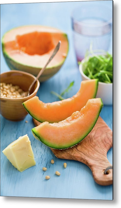 Spoon Metal Print featuring the photograph Ingredients For Melon Salad by Verdina Anna