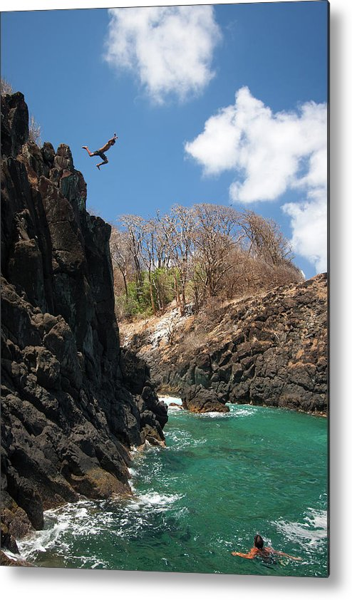 Tranquility Metal Print featuring the photograph Jumping by Mauricio M Favero