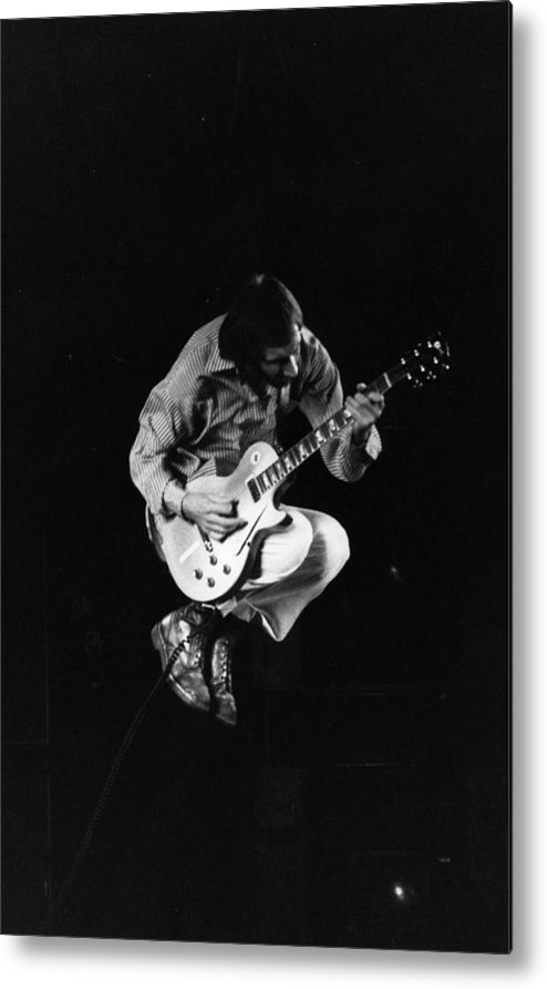 Rock Music Metal Print featuring the photograph Jumping Townshend by Evening Standard