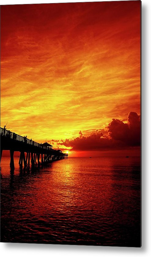 Juno Pier Metal Print featuring the photograph Juno Pier 2 by Steve DaPonte