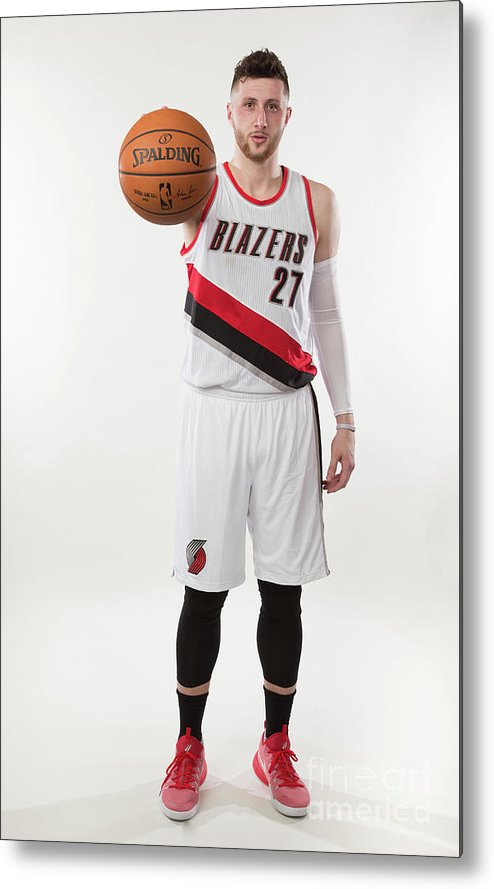 Jusuf Nurkić Metal Print featuring the photograph Jusuf Nurkic Photo Shoot by Sam Forencich