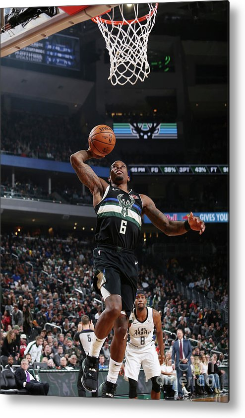 Nba Pro Basketball Metal Print featuring the photograph La Clippers V Milwaukee Bucks by Gary Dineen