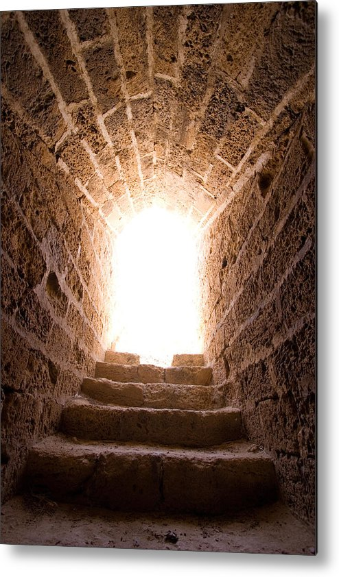 Steps Metal Print featuring the photograph Light At End Of The Tunnel by Kreicher