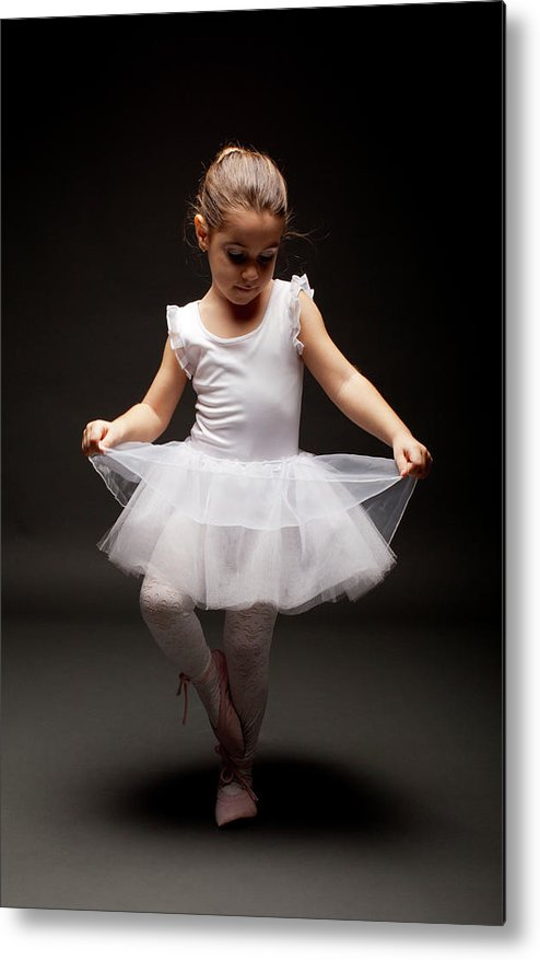 Toddler Metal Print featuring the photograph Little Ballerina by Georgijevic