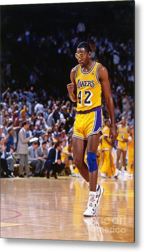 Los Angeles Lakers James Worthy Metal Print by Andrew D. Bernstein