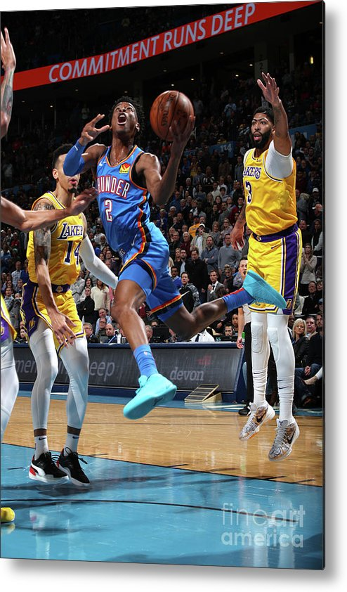 Nba Pro Basketball Metal Print featuring the photograph Los Angeles Lakers Vs Oklahoma City by Zach Beeker