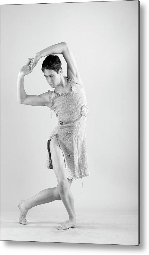 Ballet Dancer Metal Print featuring the photograph Man Dance by Oleg66