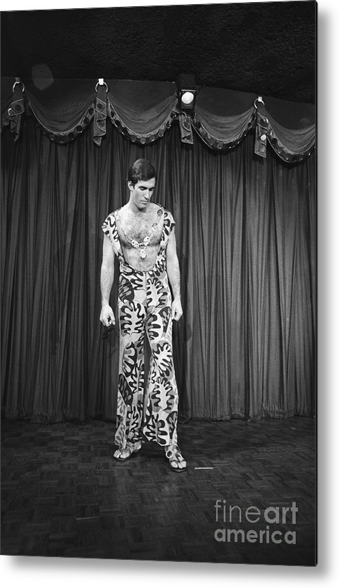 People Metal Print featuring the photograph Man Modeling New Fashion by Bettmann