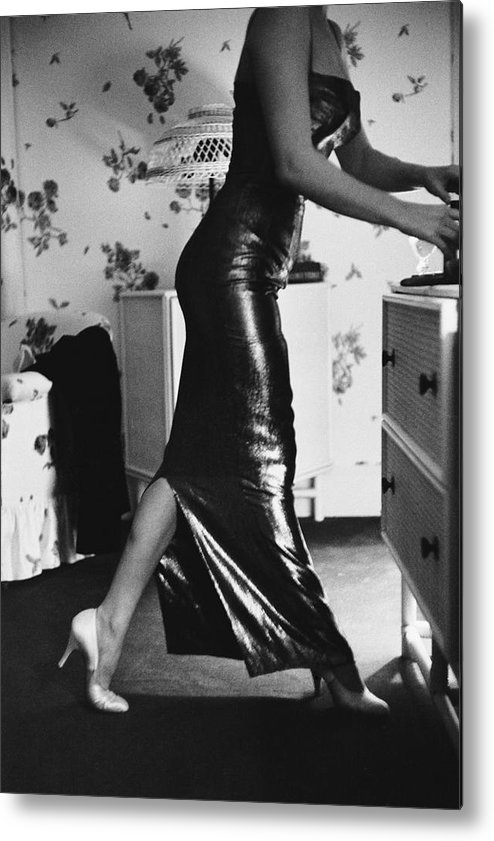 Marilyn Monroe Metal Print featuring the photograph Marilyn Gets Ready by Michael Ochs Archives
