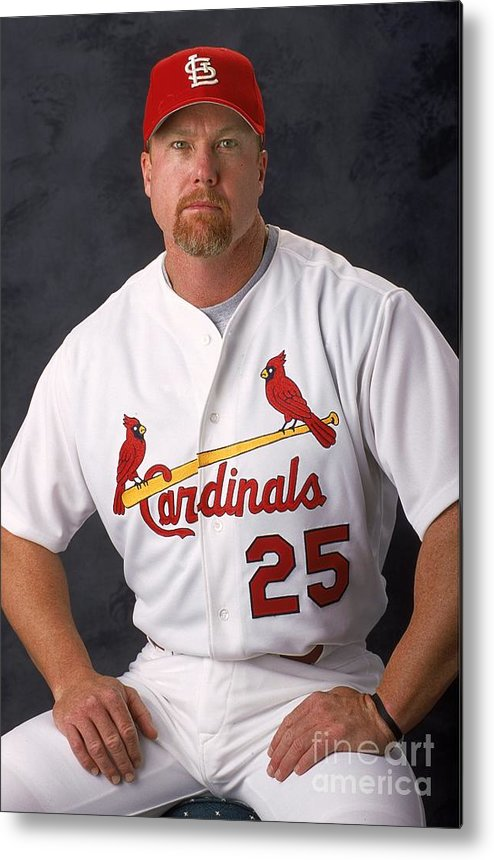 Media Day Metal Print featuring the photograph Mark Mcgwire 25 by Matthew Stockman