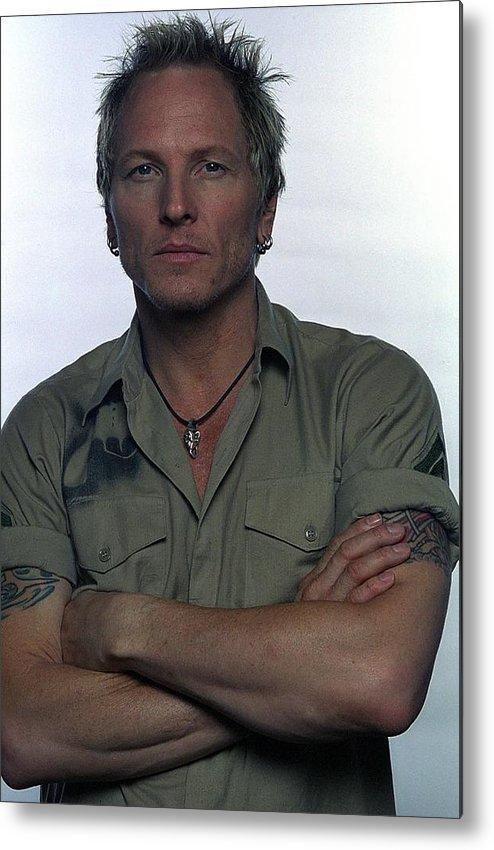 Rock Music Metal Print featuring the photograph Matt Sorum Poses For A Portrait by Jim Steinfeldt