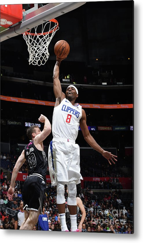 Moe Harkless Metal Print featuring the photograph Melbourne United V Los Angeles Clippers by Adam Pantozzi
