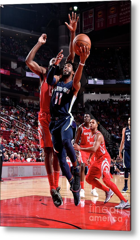 Nba Pro Basketball Metal Print featuring the photograph Memphis Grizzlies V Houston Rockets by Bill Baptist