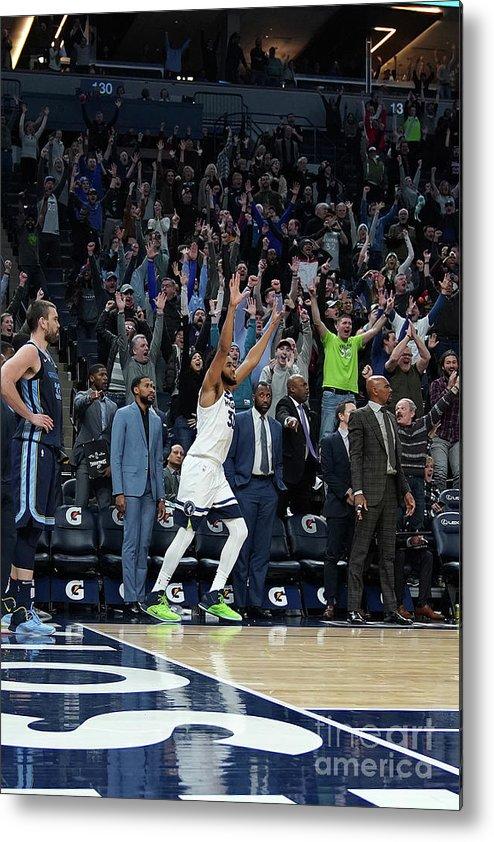 Nba Pro Basketball Metal Print featuring the photograph Memphis Grizzlies V Minnesota by Jordan Johnson