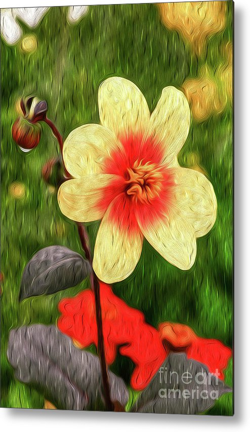 Vibrant Metal Print featuring the digital art Morning Dew II by Kenneth Montgomery