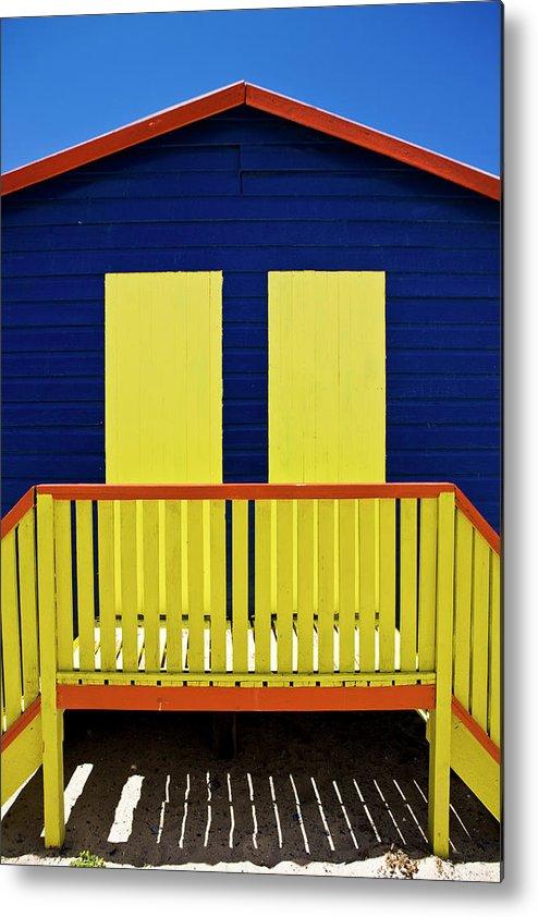 Steps Metal Print featuring the photograph Muizenberg Beach by Paul Piebinga