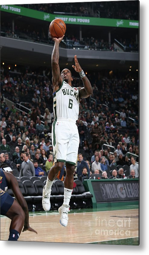 Nba Pro Basketball Metal Print featuring the photograph New Orleans Pelicans V Milwaukee Bucks by Gary Dineen