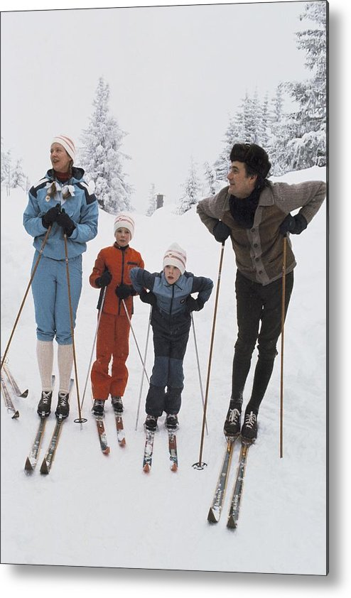 Enjoyment Metal Print featuring the photograph Norway, Danish Royal Family Skiing by Keystone-france