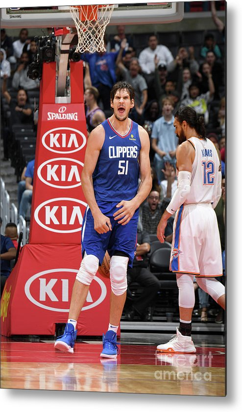 Nba Pro Basketball Metal Print featuring the photograph Oklahoma City Thunder V La Clippers by Andrew D. Bernstein
