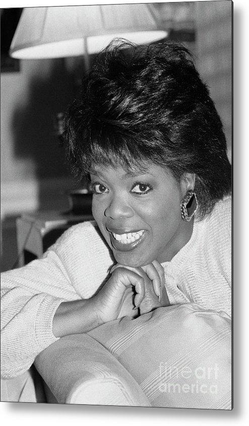 1980-1989 Metal Print featuring the photograph Oprah Winfrey, 1986 by Bettmann
