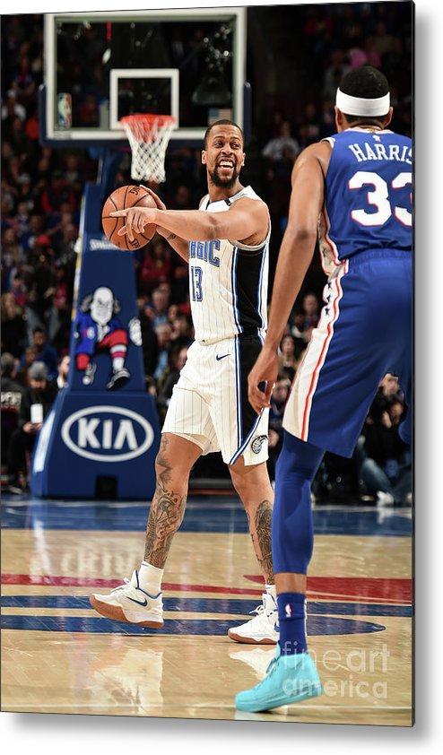Nba Pro Basketball Metal Print featuring the photograph Orlando Magic V Philadelphia 76ers by David Dow