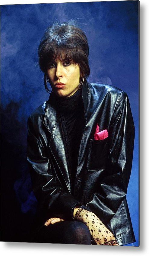 Music Metal Print featuring the photograph Photo Of Chrissie Hynde And Pretenders by Fin Costello