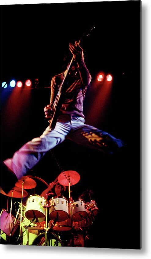 People Metal Print featuring the photograph Photo Of Who And Keith Moon And Pete by Andrew Putler