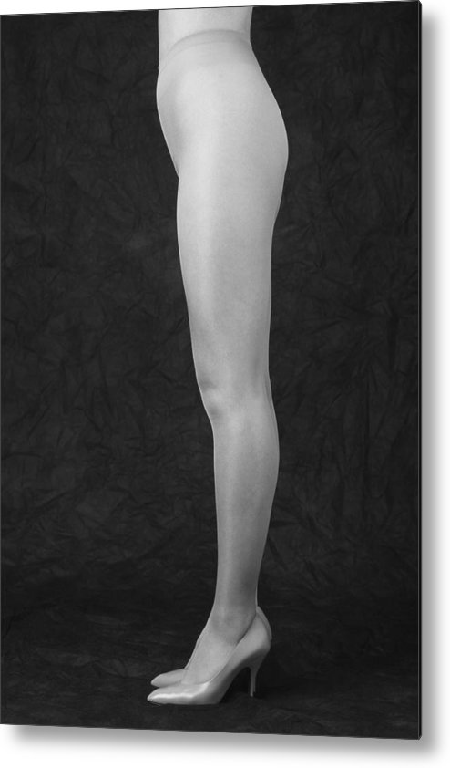 Cool Attitude Metal Print featuring the photograph Photography Of Standing Womans Legs by Daj