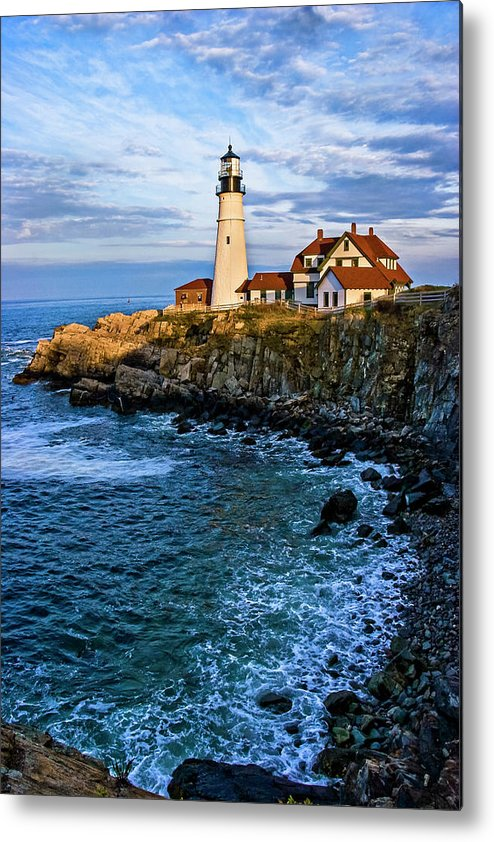 Built Structure Metal Print featuring the photograph Portland Head Light by C. Fredrickson Photography